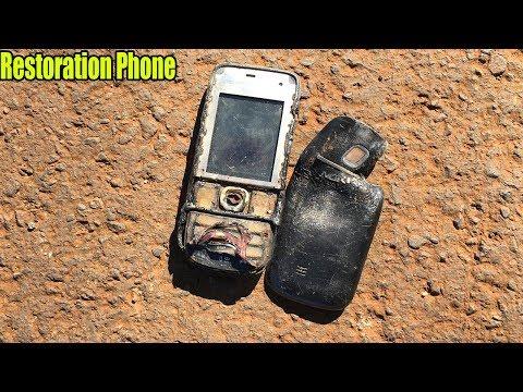 Restoration of old nokia 2700 phone burned in landfill