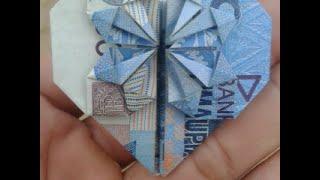Tutorial Cara Melipat Uang Kertas Menjadi Bunga Hati