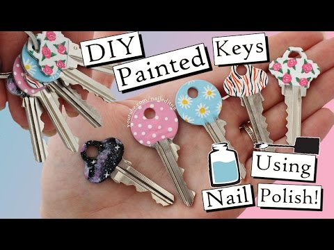 How To Paint Your Keys With Nail Polish | FIVE DESIGNS!