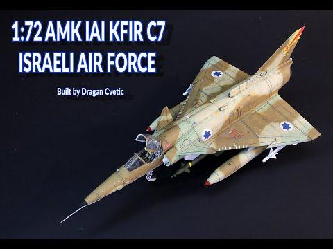IAI Kfir C7 Israeli Air Force 1/72 AMK Plastic Model Kit Full Video Build