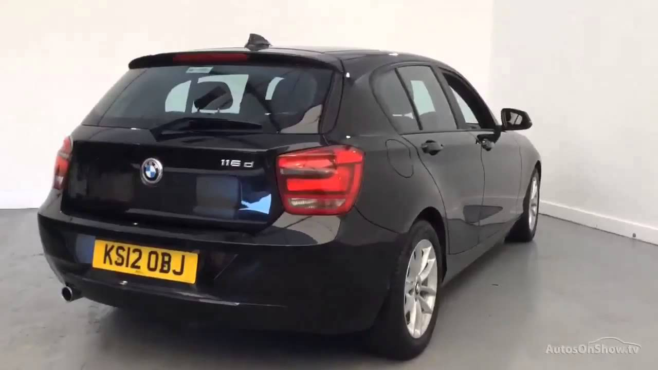 bmw 1 series 116d efficientdynamics black 2012 youtube. Black Bedroom Furniture Sets. Home Design Ideas