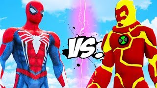 SPIDER-MAN VS HEATBLAST (BEN 10) - EPIC BATTLE