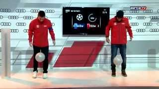 Lionel Messi, Neymar Ball Joggle contest