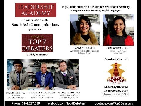 Debate: Humanitarian Assistance or Human Security.