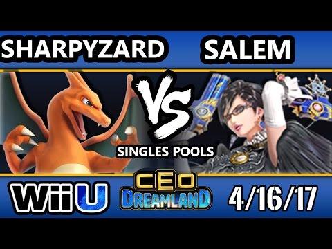 CEO Dreamland 2017 Smash 4 - Sharpyzard (Charizard) Vs. MVG   Salem (Bayonetta) SSB4 Pools
