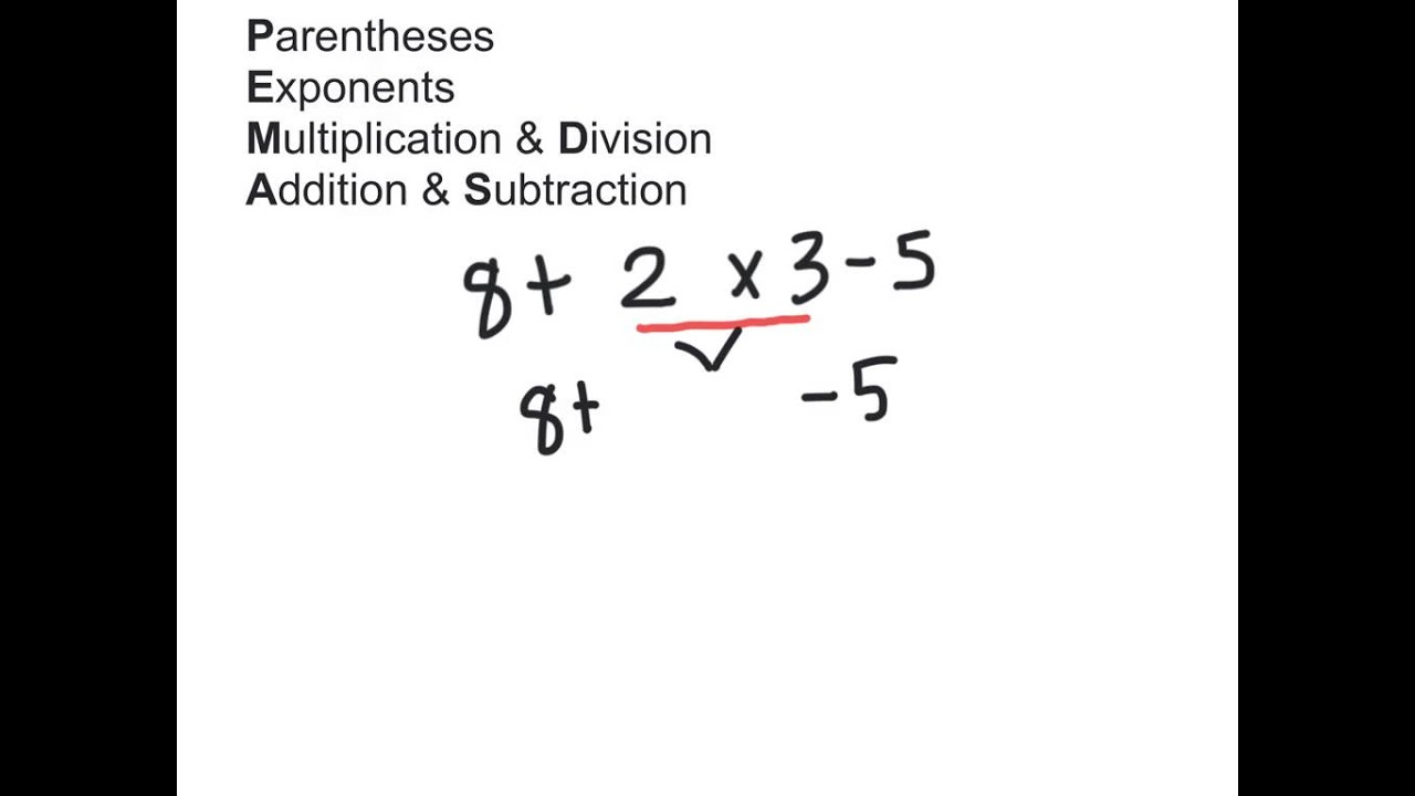 Addition Subtraction Multiplication Division Order Of