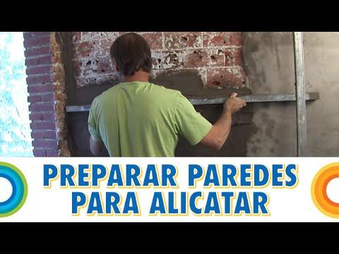 Preparar paredes para alicatar o poner cer mica - Pegamento de escayola para alisar paredes ...