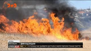 На Миколаївщині палає очерет