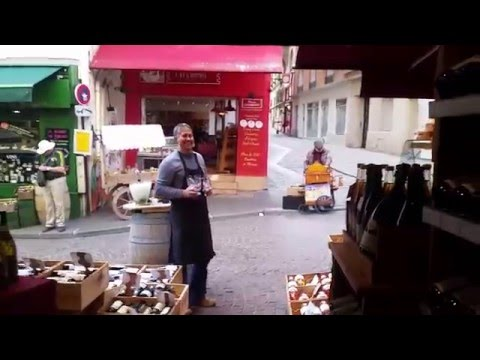 Paris Wine Merchant and Busker