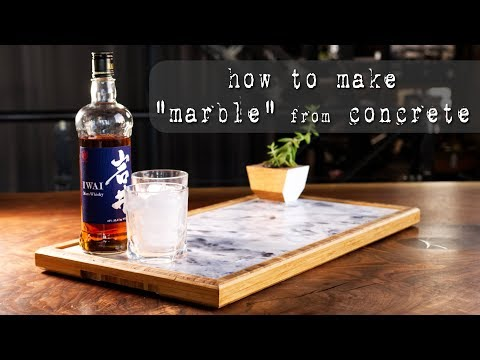 "How to Make ""Marble"" Slabs from Concrete & Serving Tray 