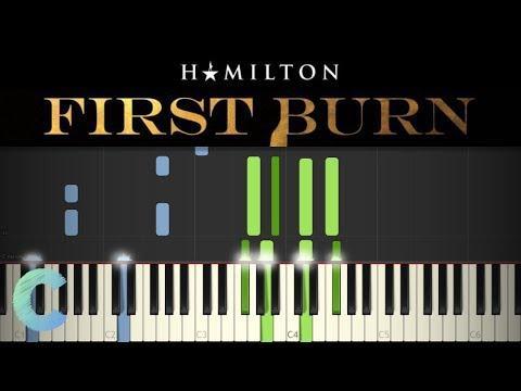 Hamilton - First Burn Piano Tutorial