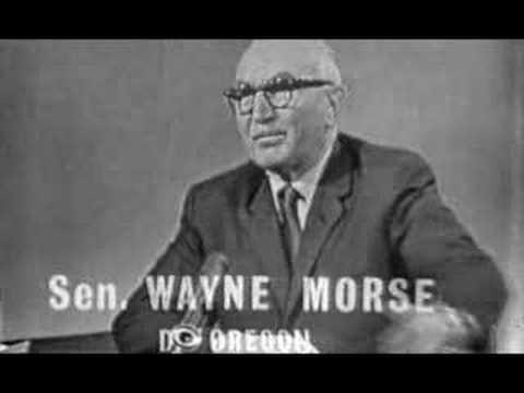 Oregon Senator Wayne Morse