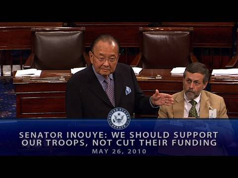 Inouye: We Should Support Our Troops, Not Cut Their Funding