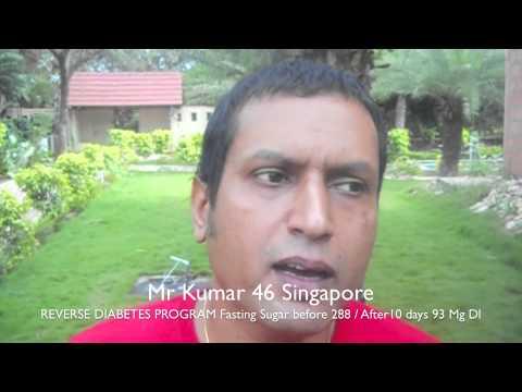 AAYUSHMAAN KUMAR SINGAPORE REVERSE DIABETES TESTIMONIAL