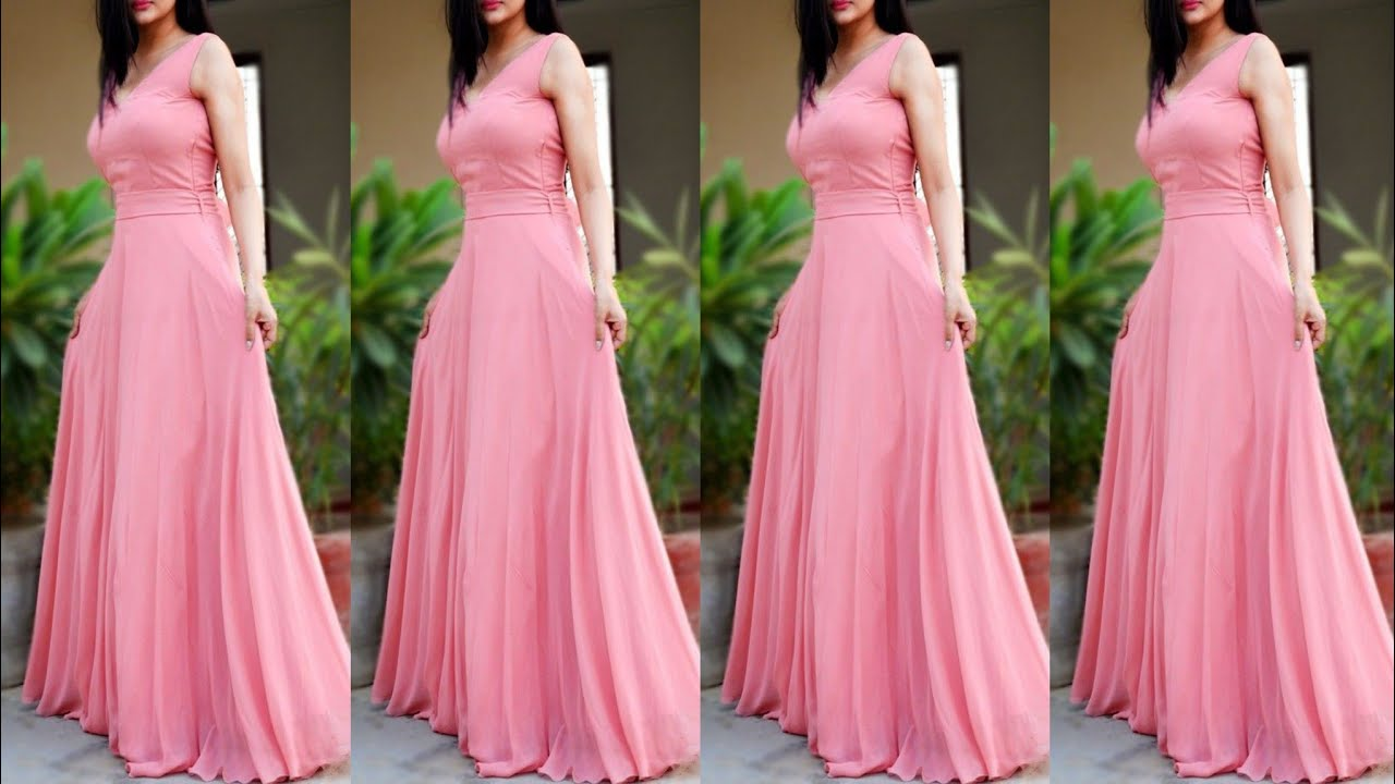 long simple gown dress