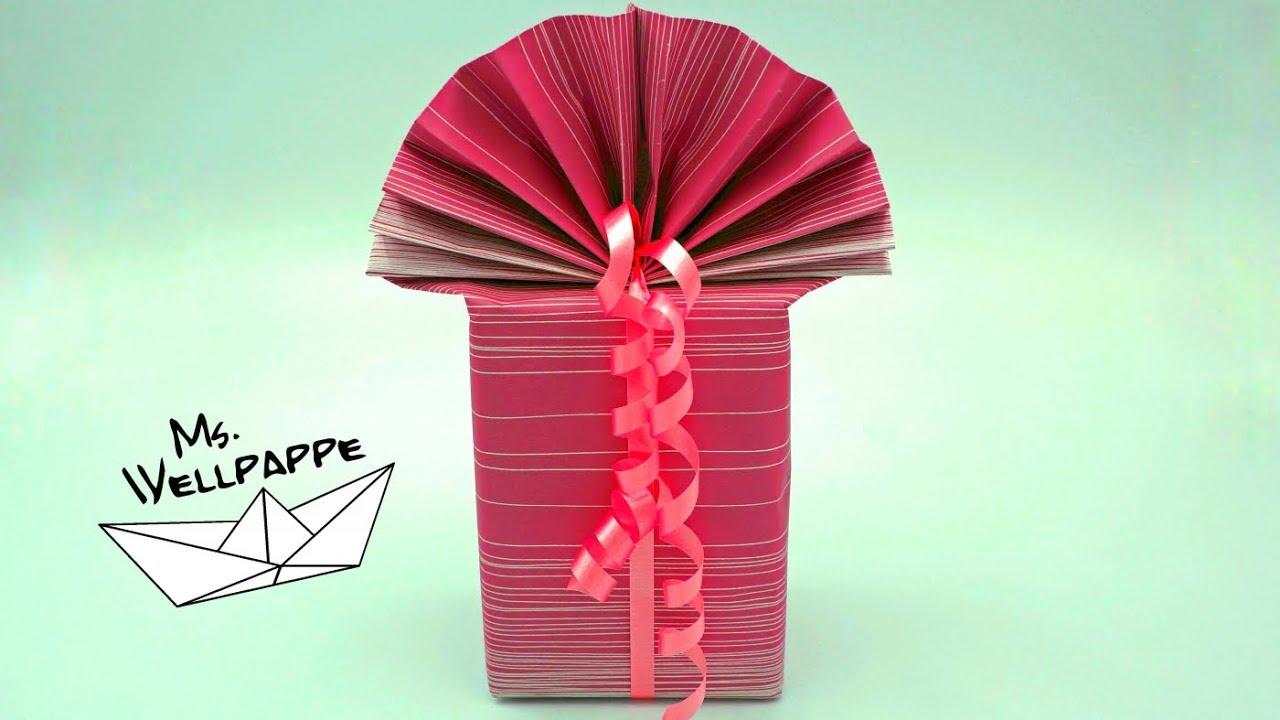 Geschenke einpacken falttechnik