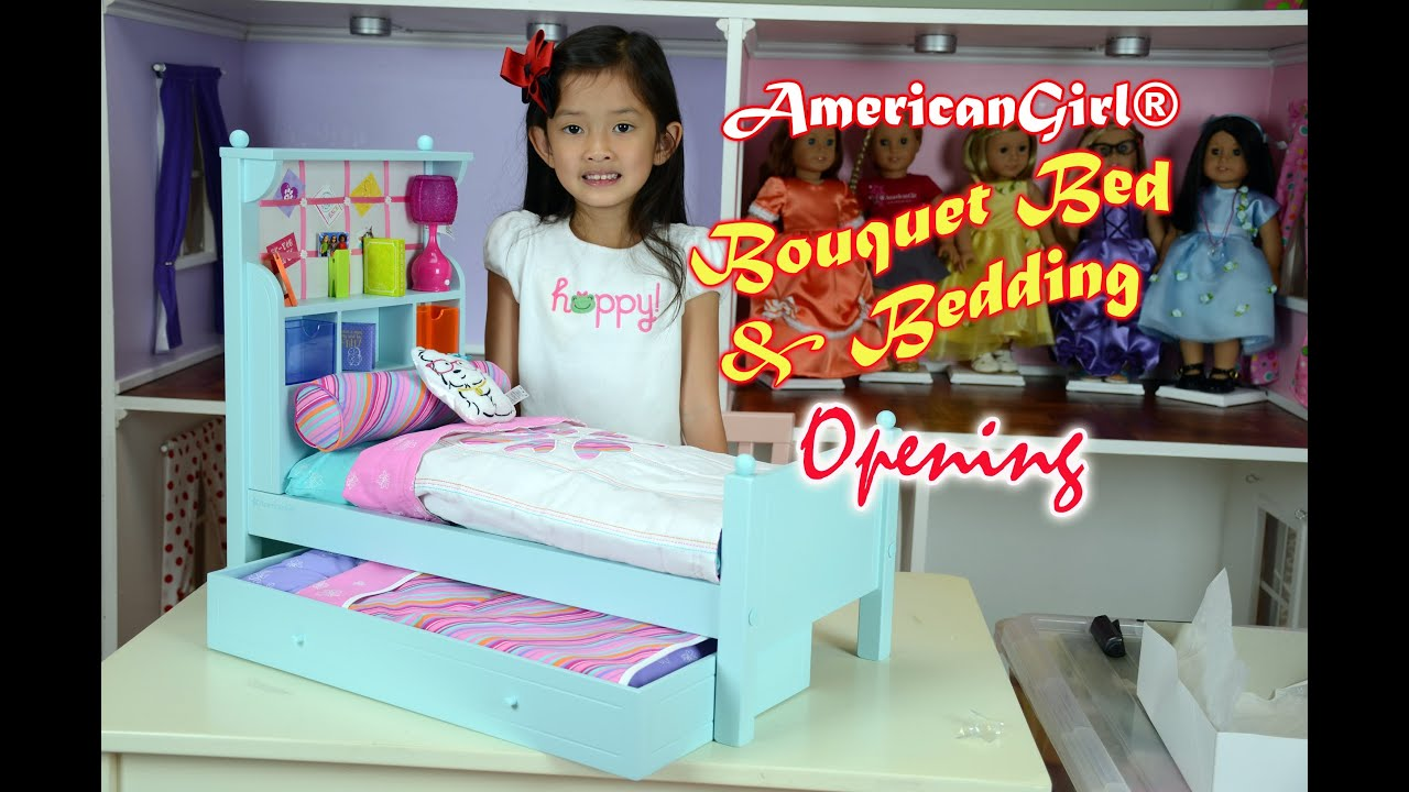 American Girl® Bouquet Bed & Bedding | Opening Boxes - YouTube