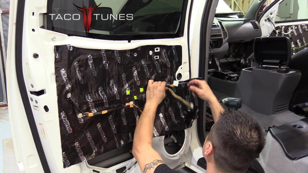 Toyota Tacoma 2005 2015 How to sound deaden rear doors matt matting & Toyota Tacoma 2005 2015 How to sound deaden rear doors matt ... Pezcame.Com