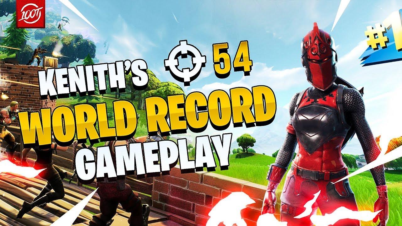 New Fortnite Squads World Record Kenith Full Gameplay