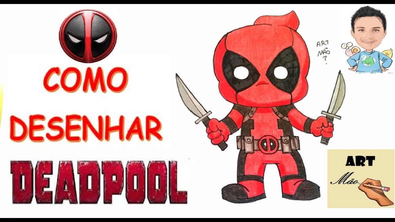 Como Desenhar O Deadpool Chibi Youtube