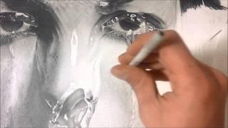 Desenho Realista - Textura de pele usando esfuminho
