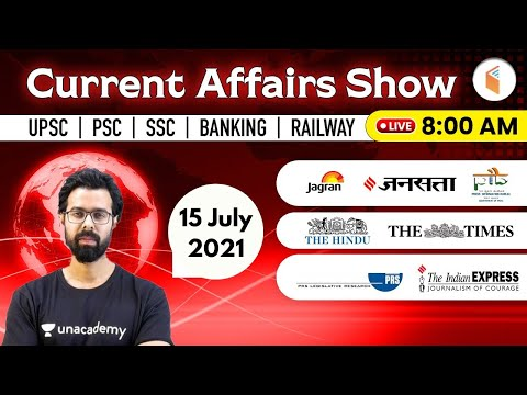 8:00 AM - 15 July 2021 Current Affairs | Daily Current Affairs 2021 by Bhunesh Sir | wifistudy