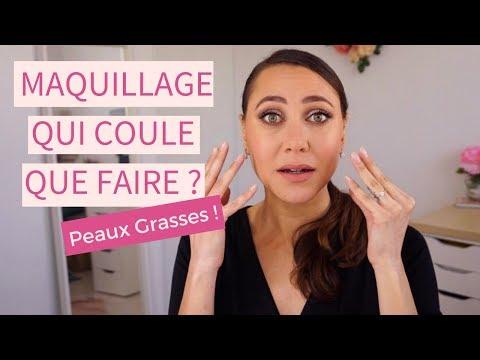 Comment éviter d'avoir le maquillage qui coule quand on a la peau grasse ?