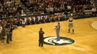 Michigan State Midnight Madness - Surprise Guest Gerard Butler