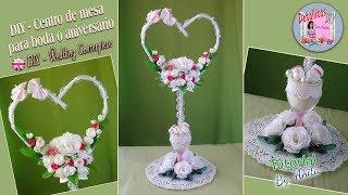 DIY centro de mesa para boda o aniversario #8