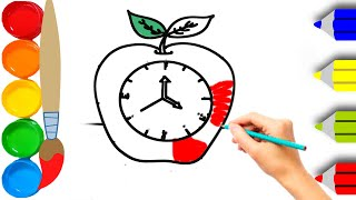How To Draw a Barbie Bag! Apple, Clock, Clown, Fun Drawing video for Kids 2