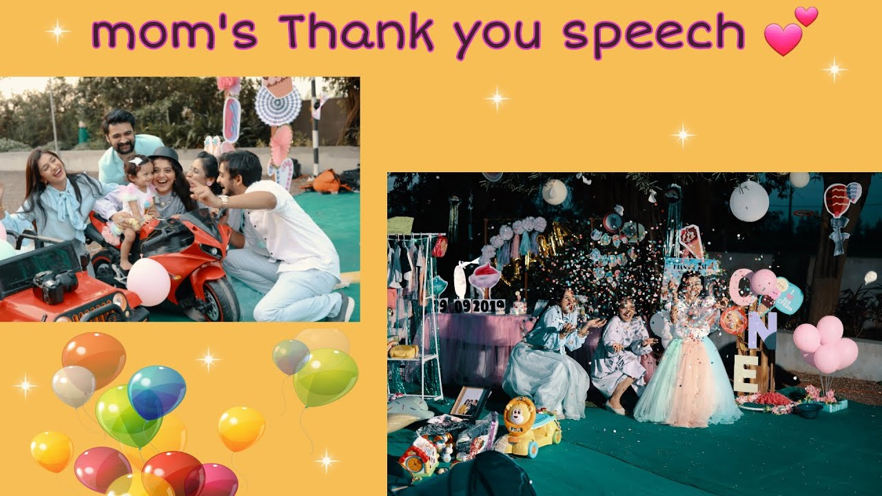 RAJKHUSH - mom's thank you speech
