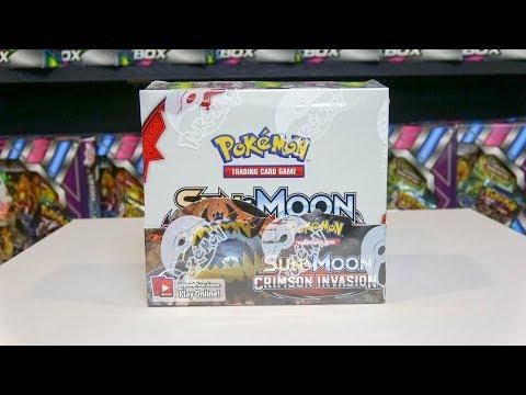 Sun & Moon Crimson Invasion - Pokemon Booster Box Opening!