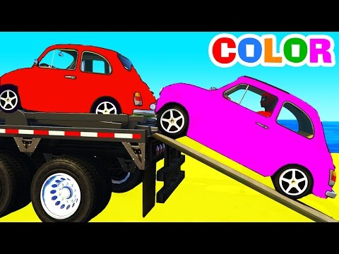 Thumbnail: FUNNY CARS Transportation and Spiderman Cartoon with superheroes for kids and babies!