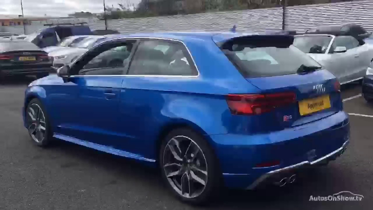 yh17hng audi a3 s3 quattro blue 2017 bradford audi youtube. Black Bedroom Furniture Sets. Home Design Ideas