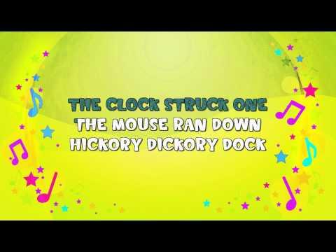 Hickory Dickory Dock | Karaoke | Nursery Rhyme | KiddieOK