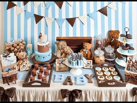 Baby shower ni o 2016 boy diy mesa de dulces - Mesa de baby shower nino ...