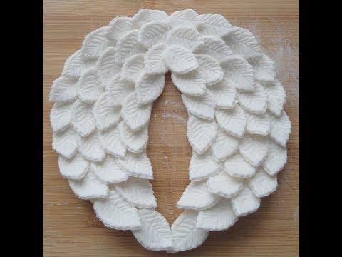 Крылья ангела из мастики!!!Украшение для тортика на крестины!!!