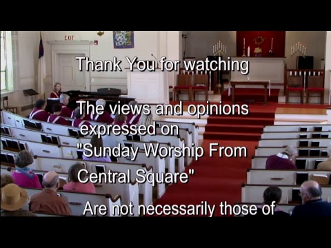 Central Square Congregational Church Sunday Worship 04/30/2017