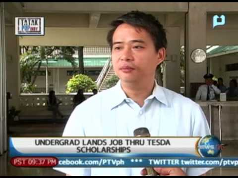 NewsLife: Undergrad lands job thru TESDA scholarship