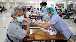 จ.อุดรฯ ฉีดวัคซีนโควิด-19(แอสตร้าเซนเนก้า) เข็มที่ 1 ให้กับกลุ่มผู้สูงอายุ  60 ปีขึ้นไปฯ