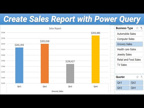 Creating Quarterly Sales Report using Power Query
