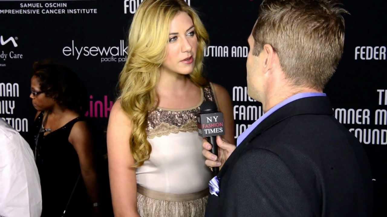 Chad Zdenek interiews Elyse Walker model Perry Mattfeld at Pink Party '12  in Santa Monica, CA