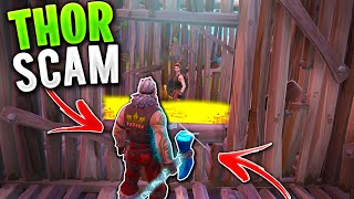*NEW SCAM* The THOR Scam! (Scammer Gets Scammed) In Fortnite Save The World Pve