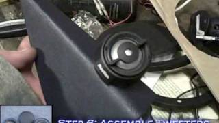 How To Install Car Speakers w/ Passive CrossOvers Mid Drivers & Tweeters - Stereo System Tutorial