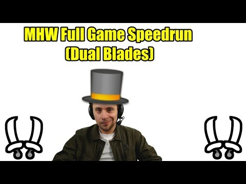 Giveaway and Dual Blade Speedrun -  (Monster Hunter World)