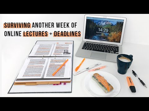 Catching up on so many online lectures + 2 deadlines 😭📑 Weekly Vlog #5