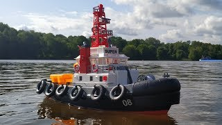 Буксир на Радіокеруванні Heng Long Seaport Work Boat HL-3810...Огляд Розпакування Тест-Драйв