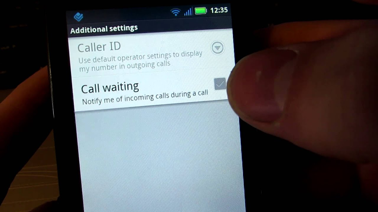 How to turn on incoming call notification