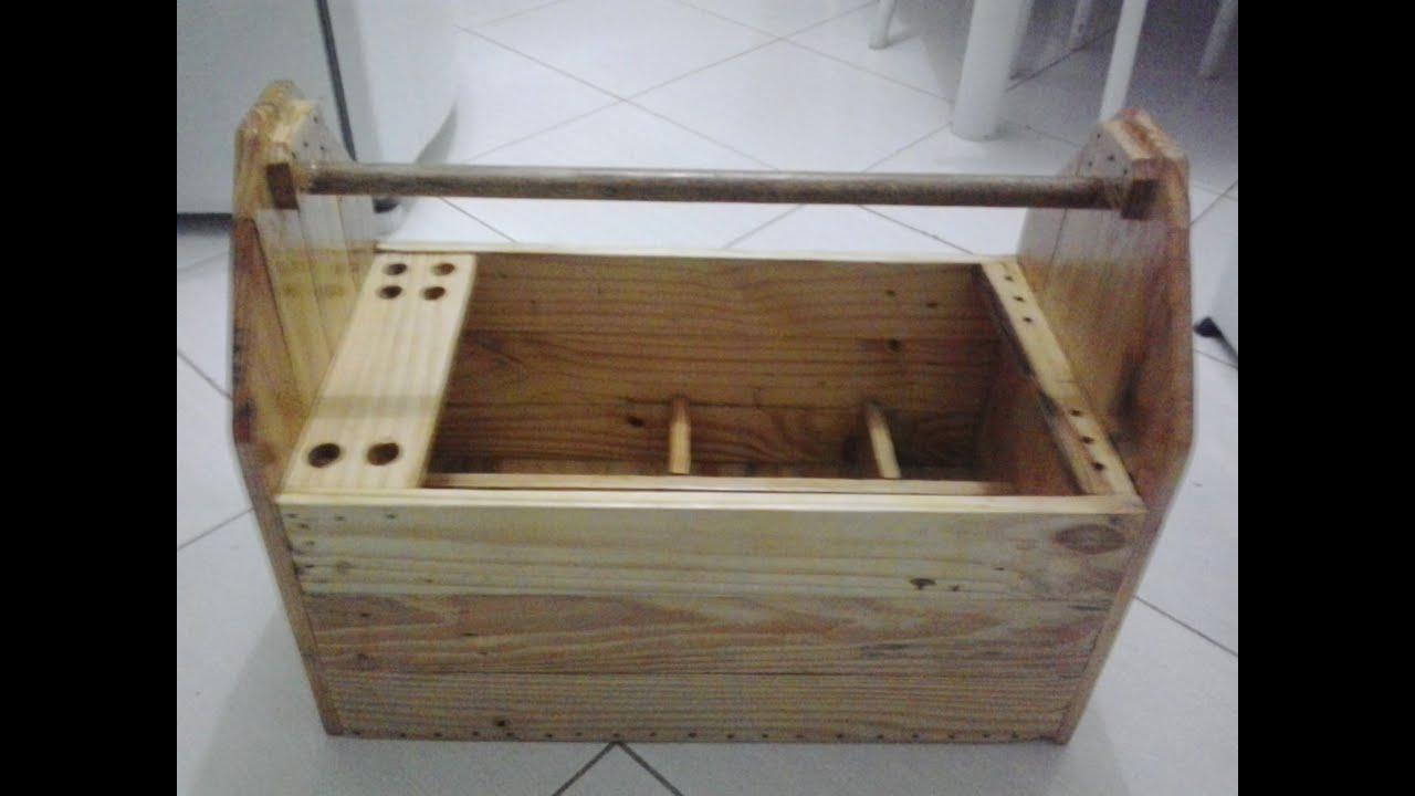 Mala de ferramenta com madeira reciclada   #644934 2048x1536