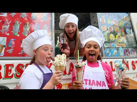 TIANA'S ICE CREAM TRUCK!! Ice Cream Songs For Children